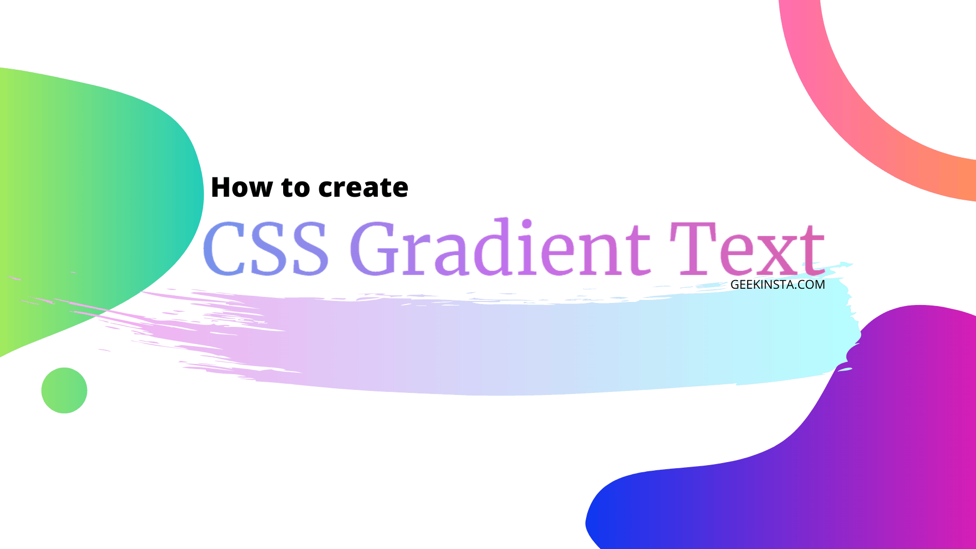 Create Gradient Text With CSS