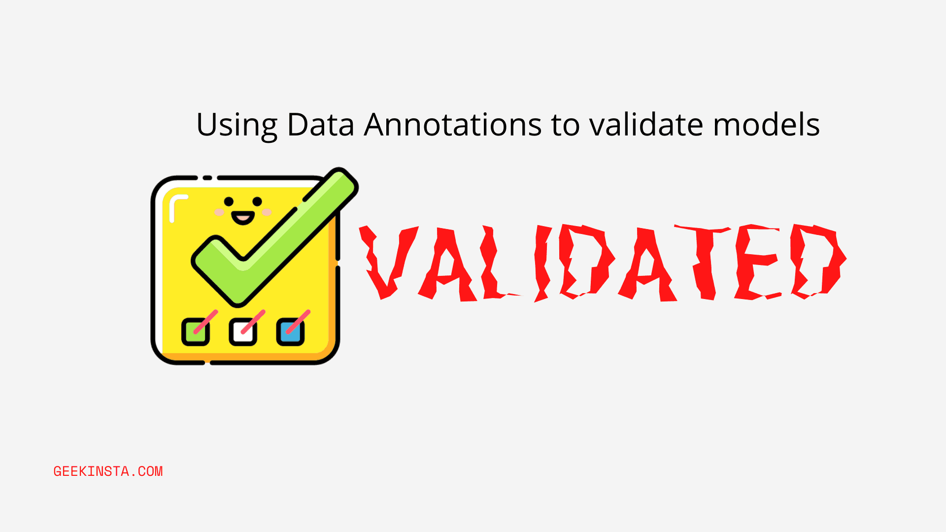 How To Manually validate with Data Annotations